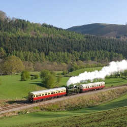 "Llangollen Railway's 6880 Bretton Grange Society's ""Steel, Steam, & Stars 2"" gala"