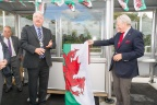 Cllr Dewi Owen and Lord Dafydd Elis Thomas AM at the new Llandecwyn halt