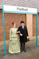 The Ffestiniog Railway's Emily High and Stephen Greig at Pwllheli