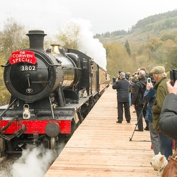 Llangollen Railway Corwen extension first passenger train, 22nd October 2014
