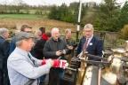 "Roger Hine, Rob Houghton, Pete Waterman, and Julian Birley discuss the footplate controls of Quarry Hunslet ""Winifred"""