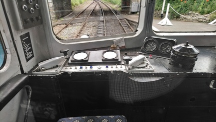 Cab of BRCW Class 104 DMU 50454 at Carrog