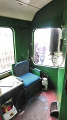 Guard's compartment in BRCW Class 110 DMU DMBC 51813