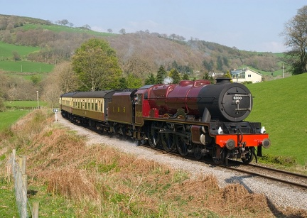 "LMS Royal Scot Class no. 6100 ""Royal Scot"" in Crimson Lake"