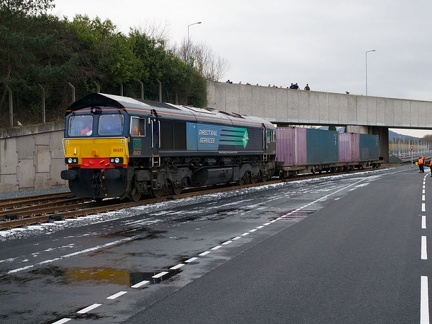 66431 runs round each inch of track at TIRFP on the gauging run