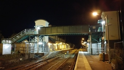 Machynlleth station's new footbridge.
